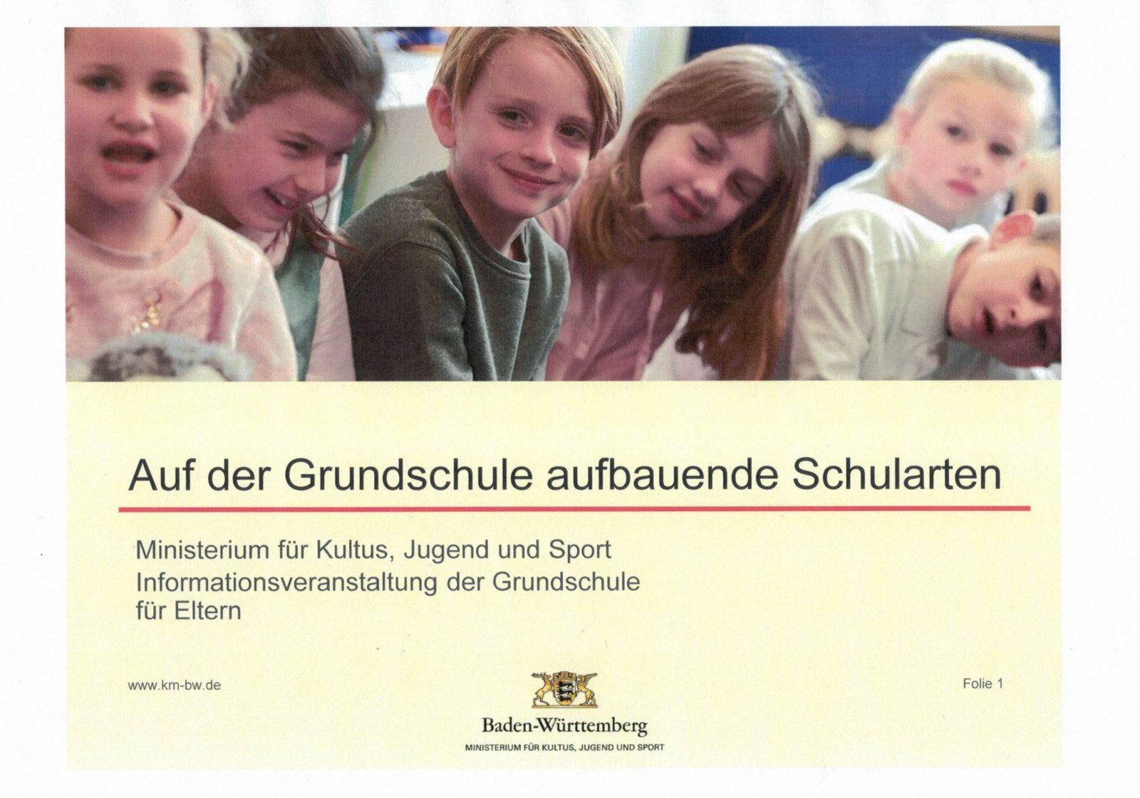 Information für unsere Viertklasseltern